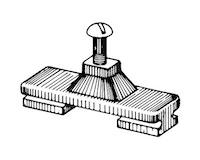 Product Image for Nylon Side Mount Slider Deck Hinge