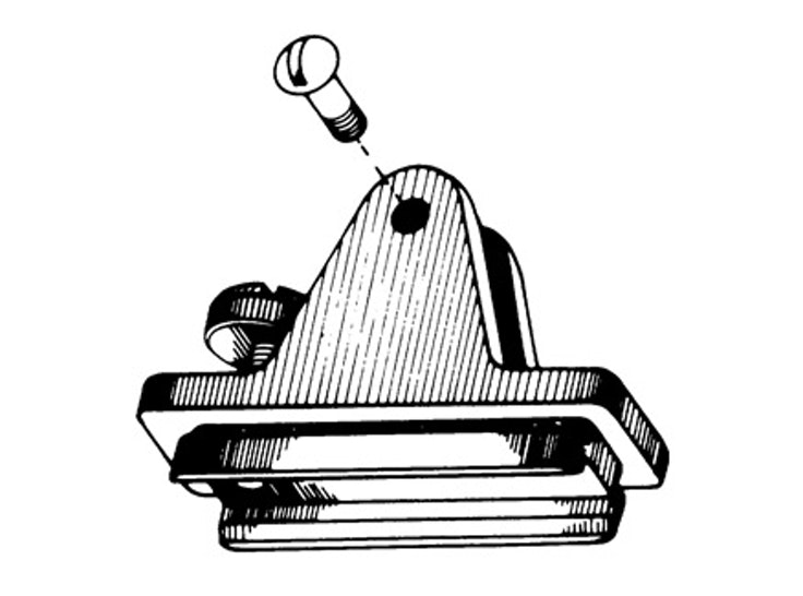 Nylon Combination Deck Hinge Slide Lock Left Side