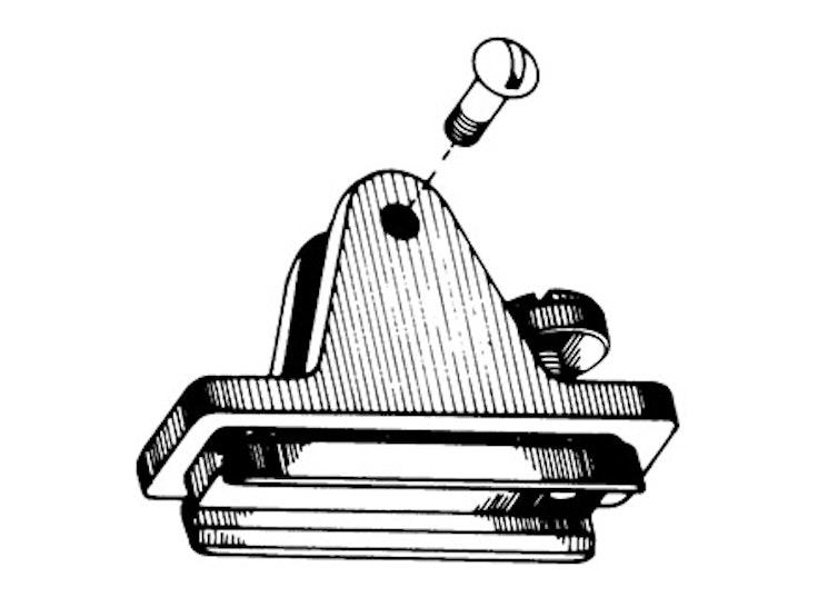 Nylon Combination Deck Hinge Slide Lock Right Side
