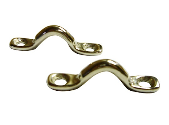Main Product Image for Nickel Plated Brass Eye Straps