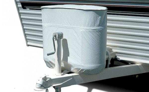 White Vinyl Propane Tank Cover For 20 Lb 5 Gallon Tank