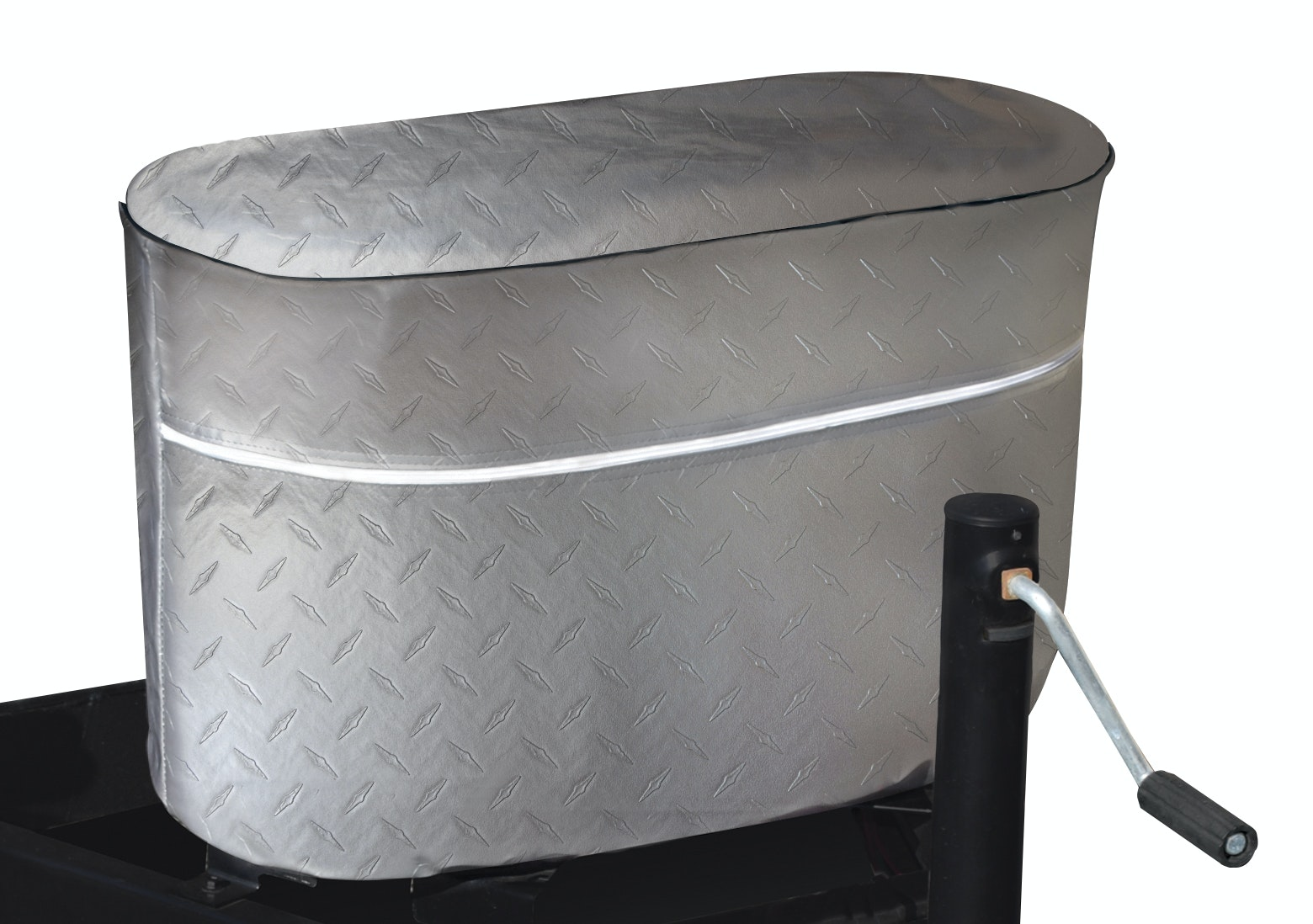Product Image for Diamond Plated Propane Tank Cover for 20/5 Gallon Tank