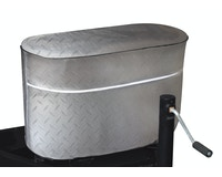 Product Image for Diamond Plated Propane Tank Cover for Single 20 lb./5 Gallon Tank