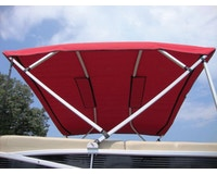 Product Image for 14 oz. White Vinyl Replacement Pontoon Bimini Top Canvas